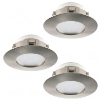 LED-alasvalosarja Eglo 3x6W, Ø78mm, IP44, teräs 95823