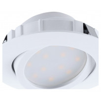 LED-alasvalo Eglo Pineda 6W, Ø84mm, valkoinen, himmennettävä 95854