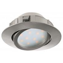 LED-alasvalo Eglo Pineda 6W, Ø84mm, teräs, himmennettävä 95856