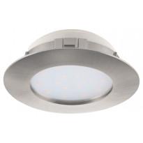 LED-alasvalo Eglo Pineda 12W, Ø102mm, teräs, himmennettävä 95876