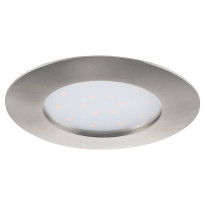 LED-alasvalo Eglo Pineda 12W, Ø102mm, IP44, teräs 95889