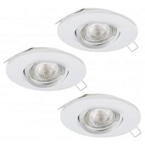 Alasvalosarja Eglo Peneto 1, 3x3W LED, Ø108mm valkoinen 95895