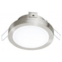 LED-alasvalo Eglo Pineda 1, Ø82mm, IP44, teräs 95918