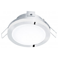 LED-alasvalo Eglo Pineda 1, Ø82mm, IP44, kromi 95962