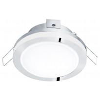 LED-alasvalo Eglo Pineda 1, Ø82mm, IP44, kromi 95962