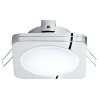 LED-alasvalo Eglo Pineda 1, 82X82mm, IP44, kromi 95963