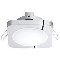 LED-alasvalo Eglo Pineda 1, 82X82mm, IP44, kromi 95963