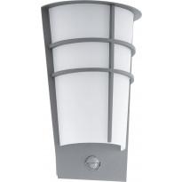 LED-ulkoseinävalaisin Eglo Breganzo, liiketunnistimella, hopea