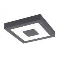LED-katto-/seinävalaisin Eglo Iphias, 16.5W, 225x40x225mm, IP44, antrasiitti/valkoinen