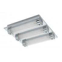 LED-plafondi Eglo Tolorico, 3x7W, 350x350x75mm, IP44, kromi/kirkas