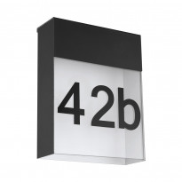 LED-seinävalaisin Eglo Ponso, 4.8W, 180x230x85mm, IP44, antrasiitti/valkoinen