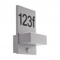 LED-tunnistinvalaisin Eglo Ardiano, 2x5.6W, 185x285x125mm, IP44, hämäräkytkimellä, hopea