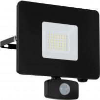LED-ulkoseinävalaisin/-valonheitin Eglo Faedo, 190x175mm, liiketunnistimella, musta