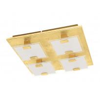 LED-plafondi Eglo Vicaro 1, 4x2.5W, 270x270x50mm, IP20, kulta/valkoinen