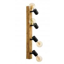 Spottivalaisin Eglo Townshend 3, 4x60W, 630x50mm, E27, IP20, ruskea/musta