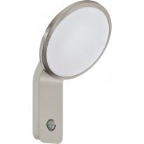 LED-ulkoseinävalaisin Eglo Cicerone, liiketunnistimella, rst/hopea