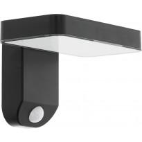 LED-ulkoseinävalaisin Eglo Pastion liiketunnistimella, aurinkokenno, musta