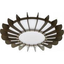 LED-plafondi Eglo Arapiles, Ø560mm, ruskea
