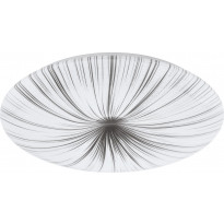 LED-plafondi Eglo Nieves, Ø510mm, valkoinen/hopea