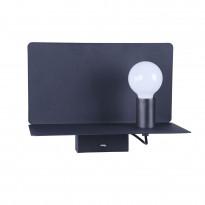 Seinävalaisin Maytoni Table & Floor Rack, USB-laturilla, musta