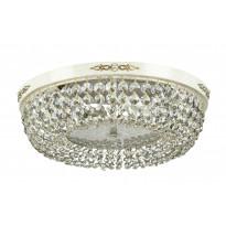 Kristalliplafondi Maytoni Diamant Crystal Garda 04-WG, 450mm, antiikkivalkoinen