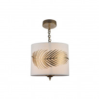Riippuvalaisin Maytoni Classic House Farn, tekstiilivarjostimella, 245 mm, valkoinen/kulta
