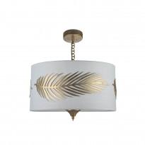 Riippuvalaisin Maytoni Classic House Farn, tekstiilivarjostimella, 400 mm, valkoinen/kulta