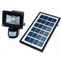 LED-valonheitin ElectroGEAR 4W, IP44, aurinkokennolla ja liiketunnistimella
