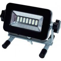 LED-valonheitin ElectroGEAR 6.5W, IP44, telineillä, ladattava