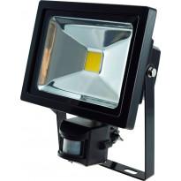 LED-valonheitin ElectroGEAR 20W, IP44, hämäräkytkimellä