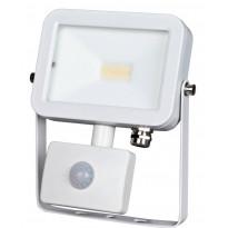 LED-valonheitin ElectroGEAR 10W, IP44, liiketunnistimella, valkoinen