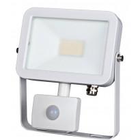 LED-valonheitin ElectroGEAR 20W, IP44, liiketunnistimella, valkoinen