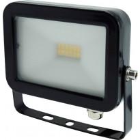 LED-valonheitin ElectroGEAR 10W, IP54, musta, litteä