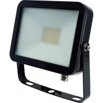 LED-valonheitin ElectroGEAR 20W, IP54, musta, litteä