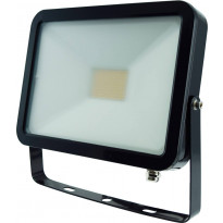 LED-valonheitin ElectroGEAR 50W, IP54, musta, litteä