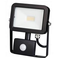 LED-valonheitin ElectroGEAR 10W, IP44, liiketunnistimella, musta