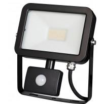 LED-valonheitin ElectroGEAR 20W, IP44, liiketunnistimella, musta