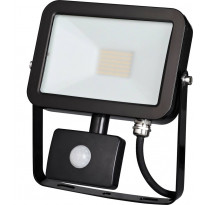 LED-valonheitin ElectroGEAR 30W, IP44, liikketunnistimella, musta