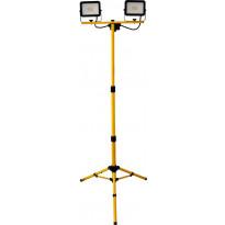 LED-valonheitin ElectroGEAR 2x20W, IP44, kolmijalalla