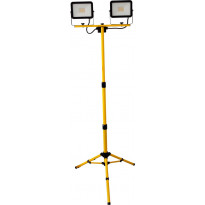 LED-valonheitin ElectroGEAR 2x30W, IP44, kolmijalalla