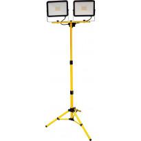 LED-valonheitin ElectroGEAR 2x50W, IP44, kolmijalalla