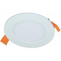 LED-paneeli Electrogear 6W, Ø120mm, uppoasennus, valkoinen