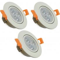 LED-kohdevalosarja ElectroGEAR, IP20, 3-osainen, valkoinen