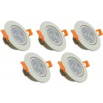 LED-kohdevalosarja ElectroGEAR, IP20, 5-osainen, valkoinen