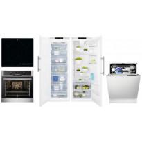 Kodinkonepaketti 2 Electrolux EOP601X + HOB750MF + ERF4114AOW + EUF2748AOW + ESL7325RO