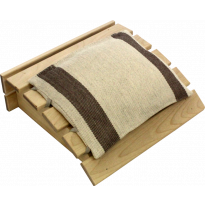 Puinen päänalunen + tyyny, ruskea