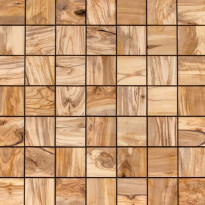 Sisustuspaneeli Sauna Square, 510x510x18mm, oliivi