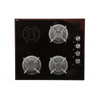 Sähkö/kaasu yhdistelmätaso TGM609, kalusteisiin asennettava, 60cm, musta