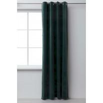 Sivuverho Eurokangas Velvet, 135x240cm, vihreä