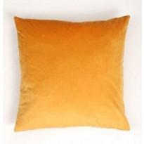 Koristetyynynpäällinen Eurokangas Velvet, 45x45cm, keltainen